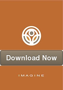 Imagine book cover with button that says download now