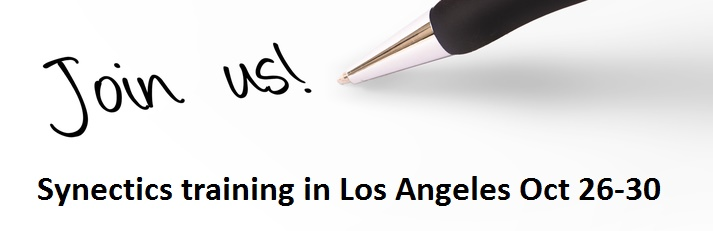 call to join us for Synectics training in Los Angeles Oct 26-30